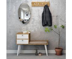THE FURNITURE PROJECT by Homemania Mobile ingresso, MOBILE INGRESSO Elsie, Struttura: rovere sapphire, anta: bianco, gambe: bianco