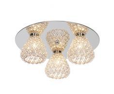 Brilliant 17693/79, lampade da soffitto, in metallo, 33 W, G9, Cromo/Rosso Di Rame, 15.5 x 41 x 15.5 cm