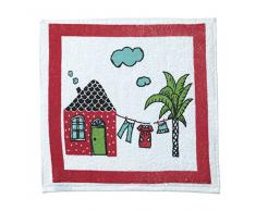 Eiffel Textile Set di Strofinacci Cucina goffratura House, Cotone, Multicolore, 50Â x 50Â x 10Â cm, 3Â Pezzi