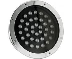Timpani Walk Faro LED Incasso Pavimento 36 W, Argento, 30 x 9.5 cm