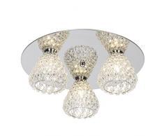 Brilliant 17693/15, lampade da soffitto, in metallo, 33 W, G9, cromato, 15.5 x 41 x 15.5 cm