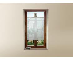 Tendina a vetro ricamata in cotone 45x90 cm BELL diSoleil dOcre