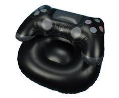 PlayStation Poltrona Gonfiabile, PVC, Nero, 64 x 85 x 110 cm