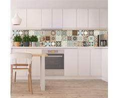 Ambiance-Live Piastrelle adesive per parete – tipo Azulejos – 20 x 20 cm – 30 Pezzi, imitazione cemento