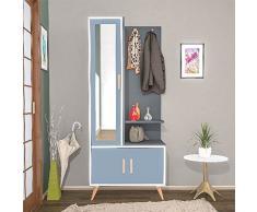 MINAR by Homemania Mobile ingresso, MOBILE INGRESSO Safir, Bianco, antracite, grigio