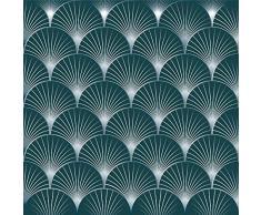 Plage 6 Piastrelle adesive Laminate ARBOREA, Blu, 15x15cm