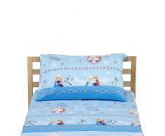 Disney Frozen Completo Letto, 100% Cotone, Azzurro, Singolo, 150 x 280/90 x 195 + 23/50 x 80 + 15 cm