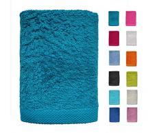 DHestia - Set di Asciugamani da Bagno e Doccia in Cotone 100%, 500 g/m², Colori e Misure Grandi, 50 x 100 cm, Confezione da 3 Pezzi