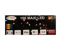Giocoplast Natale 200Â gioco ultra-luminous LED luce bianco 10Â m, multicolore