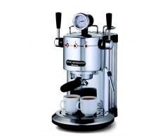 Ariete 1387/20 Caffè Novecento Macchina per Caffè Espresso, Cappuccinatore, Vano Scalda Tazze, 1100 W, 2 Tazze, 15 Bar, Cromo, Argento/Nero