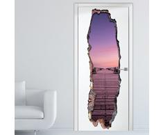 Wallflexi Adesivi da parete 3D, motivo Porta della serenità , autoadesivo, rimovibile, per camere, uffici, decorazioni di casa, multicolore