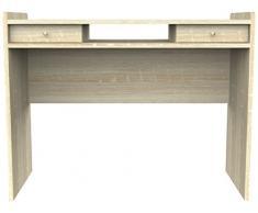 Furniture 247 - Scrivania moderna con 2 cassetti a scomparsa per ufficio/postazione di lavoro in rovere naturale
