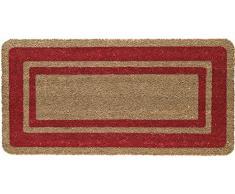 Floormad Cocco Zerbino, Fibra/Vinile, Rosso, 50x100