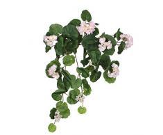Mica Decorations 1005425–L63cm pianta artificiale Geranium, poliestere, 63x 24x 24cm