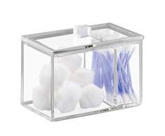 iDesign chiarezza Small Vanity pattumiera per Cosmetici e Trucco, Bagno, lavabo da appoggio, e scrivania–Trasparente, plastica, Trasparente, Taglia Unica
