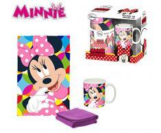 Desconocido Kids Minnie Set Coperta in Pile, Multicolore, 150 x 100 cm