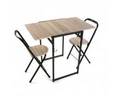 Versa 20880078 Gioco Tavolo e Due Sedie Vodic, Legno, Marrone, 92x60x76 cm