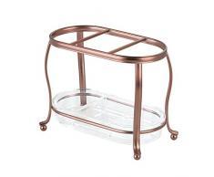 InterDesign 65323EU York Lyra Organizzatore Comò, Steel, Venetian Bronze/Clear, 17.8x9.7x14 cm