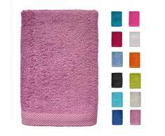 DHestia - Set di Asciugamani da Bagno e Doccia, 100% Cotone, 500 g/m², Colori e Misure Grandi, Colore: Lavanda, 100 x 150 cm (1 unità , 100 x 150 cm)