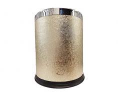 Discountseller 6L coperchio in cestino pattumiera spazzatura hotel casa ufficio cestino cestino cestino per la carta Ashcan Ashbin cassonetto senza coperchio (Golden)