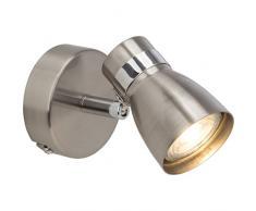 BRE di Light g35910Â a77Â a +, lampade da soffitto, Metallo, 5Â W, attacco GU10, Ferro/cromo, 15.5Â x 10.5Â x 12.5Â cm