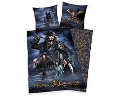 Disney pirati dei Caraibi, biancheria da letto, grigio