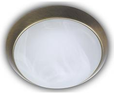 Niermann Standby a + +, lampada da soffitto, parete anello in ottone, LED, Alabaster Art, alabaster art, 30 x 30 x 11 cm