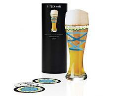 Ritzenhoff 1020235 - Bicchiere da birra in cristallo di frumento, 500 ml