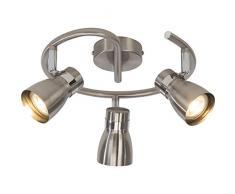 BRE di Light g35933 a77 a +, lampade da soffitto, Metallo, 5 W, attacco GU10, Ferro/cromo, 13.5 x 27 x 13.5 cm
