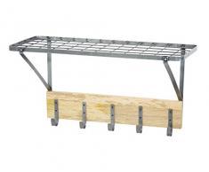 Kitchencraft industriali mensola da Cucina a Parete con Ganci, 32.5Â x 60Â x 25.5Â cm (1Â 2,5Â cm x 2Â x 25,4Â cm)