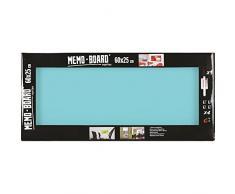 Brio 34559 Memo Board Lavagna Magnetica pastello 25 x 60 cm vetro turchese 4 x 25 x 60 cm