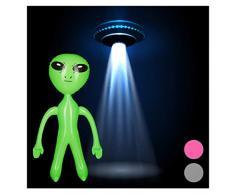 Relaxdays - Statuetta Gonfiabile a Forma di Alieno per marmellata, Ideale Come Decorazione per Feste, Carnevale, Giochi dAcqua, Giochi gonfiabili, in PVC Senza BPA, Dimensioni: ca. 61 x 35 x 14 cm
