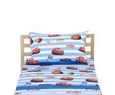 Disney Cars Completo Letto, 100% Cotone, Azzurro, Singolo, 150 x 280/90 x 195 + 23/50 x 80 + 15 cm