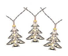 WeRChristmas - Striscia di luci LED a Forma di Albero di Natale, Colore Bianco, 7,5 cm