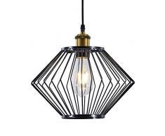 INNOTECK - Paralume in stile industriale, vintage, 30 cm Lampada da soffitto e da terra, multifunzione, in metallo, nero.
