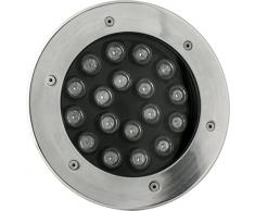 Timpani Walk Faro LED Incasso Pavimento 18 W, Argento, 21 x 8.5 cm
