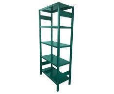 Castellani STORETS_G_30 Scaffalatura per Ambienti Living, Metallo, Verde, 108 x 30 x 180 cm