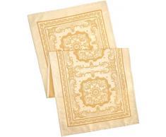 GarnierThiebaut 30602 Elenore Runner da tavolo antimacchia cotone/poliestere dorato 149 x 54 cm