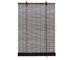 GARDINIA Bamboo Tenda a rullo Cioccolato, montaggio a soffitto o a parete, traslucido, opaco, tutti gli elementi di montaggio inclusi, 80 x 160 cm (LxA)
