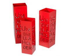 Vacchetti Giuseppe 3503470000 Portaombrelli 1-3, Modello Ombrella, Metallo, Rosso, 20 x 20 x 60 cm