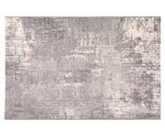 Tappeti di design by Homemania Tappeto Double Face Halimod 27, Misto Cotone, Beige/Grigio, 38.0x38.0x4.0 cm