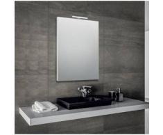 Innovo - specchio reversibile da bagno filo lucido con telaio perimetrale e lampada led - Bathman Srl