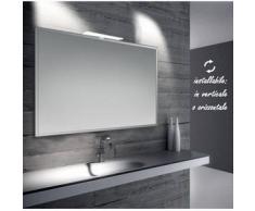 Diana - specchio reversibile da bagno con cornice bisellata 100x70 cm con lampada led 7w - Bathman Srl