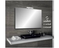 Irina - specchio reversibile da bagno filo lucido 90x60 cm con lampada led 5w - Bathman Srl