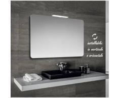 Klara - specchio reversibile da bagno filo lucido sagomato con angoli stondati 90x60 cm con lampada led 6w - Bathman Srl