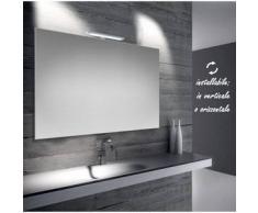 Emma - specchio reversibile da bagno filo lucido 100x70 cm con lampada led 5w - Bathman Srl