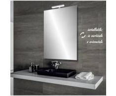 Olimpia - specchio reversibile da bagno filo lucido 60x80 cm con lampada led 5w - Bathman Srl