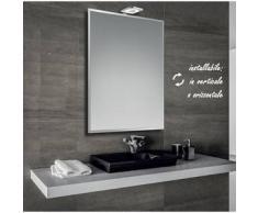 Marina - specchio bisellato reversibile da bagno 60x80 cm con lampada led 6w - Bathman Srl
