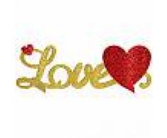 Centrotavola 3D Love con brillantini