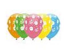 6 palloncini in lattice compleanno Cupcake